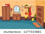 cartoon hallway background....   Shutterstock .eps vector #1277315881