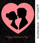 valentine's day card with... | Shutterstock .eps vector #127732079