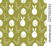 seamless pattern with easter...   Shutterstock .eps vector #1277321551