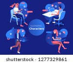 people work and interacting... | Shutterstock .eps vector #1277329861