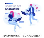 people work and interacting... | Shutterstock .eps vector #1277329864