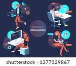 people work and interacting... | Shutterstock .eps vector #1277329867
