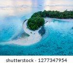 an aerial view of muri lagoon... | Shutterstock . vector #1277347954