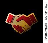 business handshake   contract... | Shutterstock .eps vector #1277348167