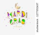 mardi gras carnival background... | Shutterstock .eps vector #1277352637