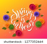 spring background with paper... | Shutterstock .eps vector #1277352664