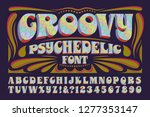 a groovy hippie style... | Shutterstock .eps vector #1277353147