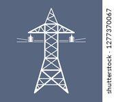 high voltage power line... | Shutterstock .eps vector #1277370067
