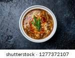 spicy sour soup chinese cuisine | Shutterstock . vector #1277372107