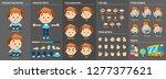 little boy character puppet for ... | Shutterstock .eps vector #1277377621