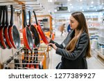 young beautiful woman choosing... | Shutterstock . vector #1277389927