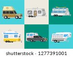 a set of trailers or family rv... | Shutterstock .eps vector #1277391001