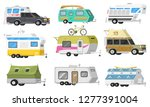 a set of trailers or family rv... | Shutterstock .eps vector #1277391004