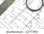 generic electrical scheme | Shutterstock . vector #1277393