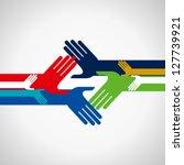 concept of unity | Shutterstock .eps vector #127739921
