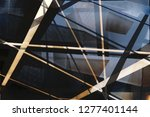 metal and glass in modern... | Shutterstock . vector #1277401144
