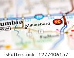 Millersburg. Missouri. USA on a geography map