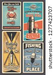 fishing tackle and bait shop... | Shutterstock .eps vector #1277423707