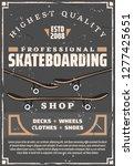 skateboarding extreme sport... | Shutterstock .eps vector #1277425651