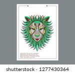 lion head in the ornament  ... | Shutterstock .eps vector #1277430364