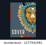 colorful lion vector... | Shutterstock .eps vector #1277431981