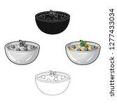 delicious vegetarian porridge... | Shutterstock .eps vector #1277433034