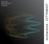 abstract tangled threads shape... | Shutterstock .eps vector #1277438437