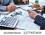 team  businessmans job ....   Shutterstock . vector #1277457604