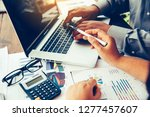 team  businessmans job ....   Shutterstock . vector #1277457607
