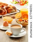 breakfast including coffee ...   Shutterstock . vector #127748351