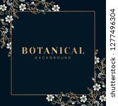 botanical background with... | Shutterstock .eps vector #1277496304