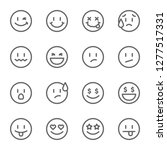 set of outline emoticons  emoji ... | Shutterstock .eps vector #1277517331