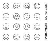 set of outline emoticons  emoji ... | Shutterstock .eps vector #1277517331