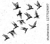 set of black hand drawn strokes ... | Shutterstock .eps vector #1277529097