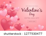 valentines day sale poster with ... | Shutterstock .eps vector #1277530477