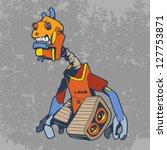 robot heroes characters vector... | Shutterstock .eps vector #127753871