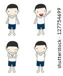 little boy character | Shutterstock .eps vector #127754699