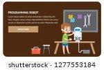 programming robot electronics.... | Shutterstock .eps vector #1277553184