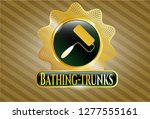gold shiny badge with roller... | Shutterstock .eps vector #1277555161
