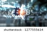 cryptocurrency background... | Shutterstock . vector #1277555614