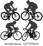 cycling silhouette on white... | Shutterstock .eps vector #127755641