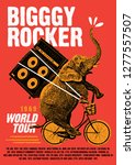 worls rock tour poster flyer... | Shutterstock .eps vector #1277557507