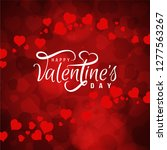 happy valentine's day love... | Shutterstock .eps vector #1277563267