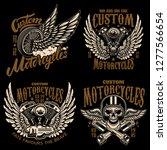 set of racer emblem templates... | Shutterstock .eps vector #1277566654