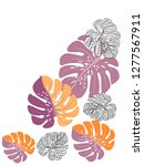 vector tropical pattern with... | Shutterstock .eps vector #1277567911