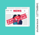 fake news. man and woman in the ... | Shutterstock .eps vector #1277568841