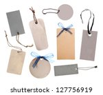 collection of price tag or... | Shutterstock . vector #127756919