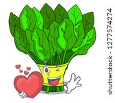 with heart fresh spinach... | Shutterstock .eps vector #1277574274