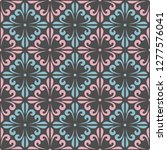seamless pattern with floral... | Shutterstock .eps vector #1277576041
