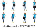 young student isolated on white | Shutterstock . vector #1277582257